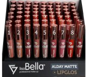 Lisa Bella Allday Matte Lipgloss 08 Fırçalı Ruj