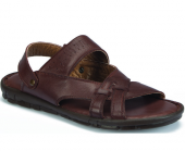 Polaris 157710 Erkek Deri Terlik Sandalet Kahve