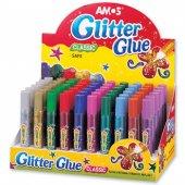 Amos Glitter Glue Simli Yapıştırıcı 10,5 Ml X 60 Adet Sınıf Seti