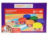 Craft And Arts Parmak Boyası 6 Renk X 50 Ml.