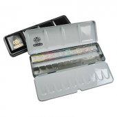 Schmincke Horadam Aquarell Taş Sulu Boya 1 2 Tablet 12 Renk + Ext