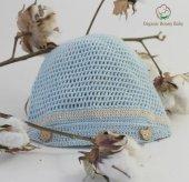 Organik Bebek Şapkası Organic Bonny Baby El Örgüsü Şapka