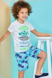 Roly Poly 1221 Erkek Çocuk Bermuda Pijama Takımı