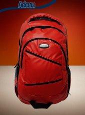 15.6 İnch Laptop Kırmızı Bayan Erkek Su Geçirmez Sırt Çantası