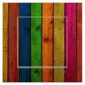 Dekoratif Baskılı Elektrik Düğmesi Priz Kapı Zili Renkli Çubuklar