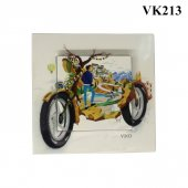 Dekoratif Baskılı Elektrik Düğmesi Priz Kapı Zili Motosiklet