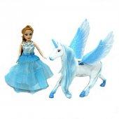 Mavi Peri Masalı Bebek Ve Kanatlı At