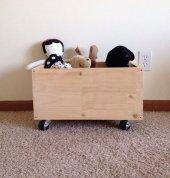Ceebebek Montessori Ahşap Bebek Çocuk Tekerlekli Oyuncak Kitaplık Kutusu Dolabı Kitaplık Oda Düzenleyici Ücretsiz Kargo