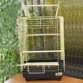 Qh Papağan Kafesi Açılır Çatılı Pirinç 40,5x40,5x59,5 Cm