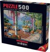 Anatolıan 3578 Mor Salkımlı Teras 500 Parça Puzzle