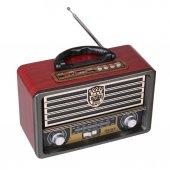 Meier M 113bt Klasik Ahşap Retro Alaturka Radyo Bluetoothlu