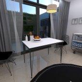 Mars Mobilya Selanik Tel Ayaklı Mutfak Masası