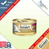 Gourmet Gold Parça Etli Hindili Ördekli Kedi Konservesi 85 Gr 6