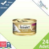Gourmet Gold Parça Etli Hindili Ördekli Kedi Konservesi 85 Gr 2