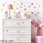 Dekorloft Renkli Kelebekler Çocuk Odası Duvar Sticker Cs 218