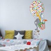 Dekorloft Benekli Uçan Balon Çocuk Odası Duvar Sticker Cs 284