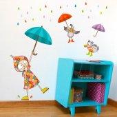 Dekorloft Yağmurlu Gün Çocuk Odası Duvar Sticker Cs 288
