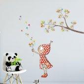 Dekorloft Bahar Zamanı Menekşe Çocuk Odası Duvar Sticker Cs 322
