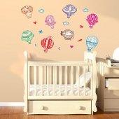 Dekorloft Sevimli Balonlar Çocuk Odası Sticker Cs 519