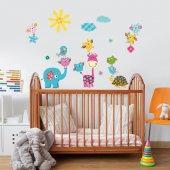 Dekorloft Motifli Hayvanlar Çocuk Odası Sticker Cs 540
