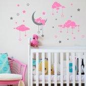 Dekor Loft Uyuyan Ayıcık Çocuk Odası Duvar Sticker Cs 621 Pembe