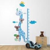 Dekorloft Zürafa Ve Koala Boy Ölçer Sticker Dbc34 Mavi