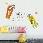 Dekor Loft Neşeli Uzaylılar Çocuk Odası Duvar Sticker Cs 622