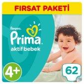 Prima Bebek Bezi Aktif Bebek Fırsat Paketi 4+ Beden 62 Adet