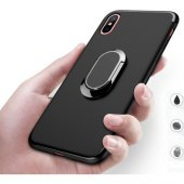 Fonemax Apple İphone X Kılıf Yüzüklü Stand Olabilen Silikon Kılıf