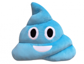 Mavi Gülen Poo Emoji Yastık