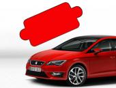 Araç Ön Cam Güneşliği (150x70 Cm) Kırmızı