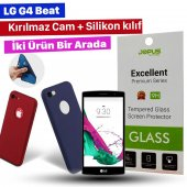 Jopus Lg G4 Beat Kılıf + Temperli Kırılmaz Cam Ekran Koruyucu