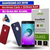 Jopus Samsung A3 2016 Kılıf+temperli Kırılmaz Cam Ekran Koruyucu