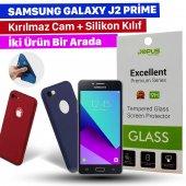 Jopus Samsung J2 Prime Kılıf + Temperli Kırılmaz Cam Ekran Koruyucu