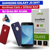 Jopus Samsung J3 2017 Kılıf + Temperli Kırılmaz Cam Ekran Koruyucu