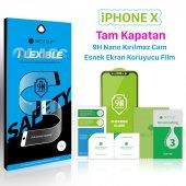 Bestsuit İphone X Tam Kapatan Nano Kırılmaz Cam Esnek Film Kılıf