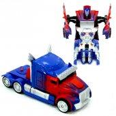 Tek Tuşla Robota Dönüşen Optimus Çek Bırak Oyuncak Araba