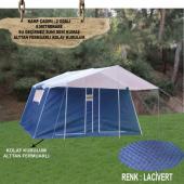 Iki Odalı Alttan Fermuarlı Suni Deri Kamp Çadırı,