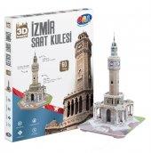 Pal İzmir Saat Kulesi 60 Parça 3d Karton Maket