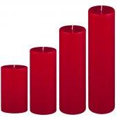 4 Lü Set Mum Çap 7 Cm Kırmızı