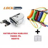 Mts Alarmlı Disk Kilidi Lk303 Lk603 Hatırlatma Kablosu Hediye