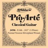 Daddarıo Klasik Gitar Tek Teli J4506 , E (Mi) Dadario