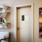 Dekorloft Şaşkın Kedi Yazılabilir Kapı Ve Dolap Sticker Kst 113