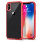 Iphone X Kılıf, Spigen Ultra Hybrid Red