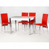 Enzi En201 Mutfak Masa Takımı Kırmızı