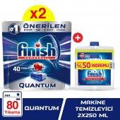 Finish Quantum 80 Tablet Bulaşık Makinesi Deterjanı (40x2) + Maki