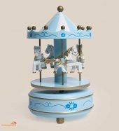 Atlı Karınca Müzik Kutusu Mavi Renk