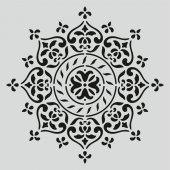 H002 Mandala Dantel Stencil Şablon 25x25cm