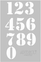 Artdeco Stencil A4 21x29cm Rakamlar St212