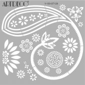 Artdeco Stencil Şal Desen 30x30cm St129